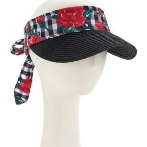 Betsey Johnson Gingham Visor